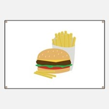 Burger and Fries Banner