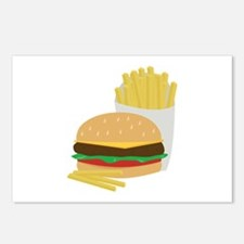 Burger and Fries Postcards (Package of 8)