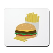 Burger and Fries Mousepad