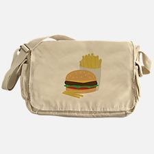 Burger and Fries Messenger Bag
