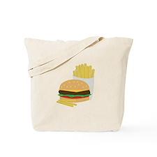 Burger and Fries Tote Bag