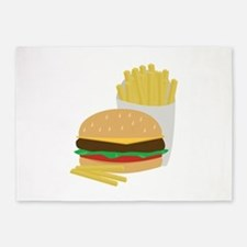 Burger and Fries 5'x7'Area Rug