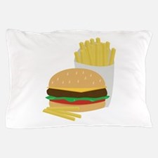 Burger and Fries Pillow Case