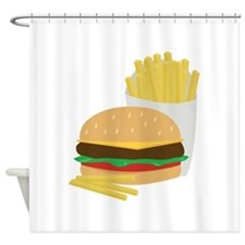 Burger and Fries Shower Curtain