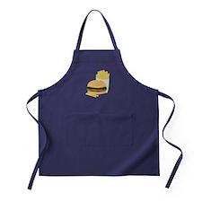 Burger and Fries Apron (dark)