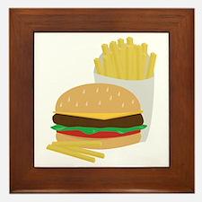Burger and Fries Framed Tile