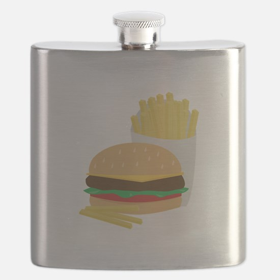 Burger and Fries Flask