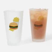 Burger and Fries Drinking Glass