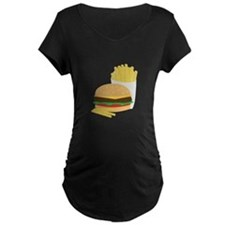 Burger and Fries Maternity T-Shirt