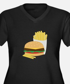 Burger and Fries Plus Size T-Shirt