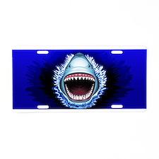 Shark Jaws Attack Aluminum License Plate