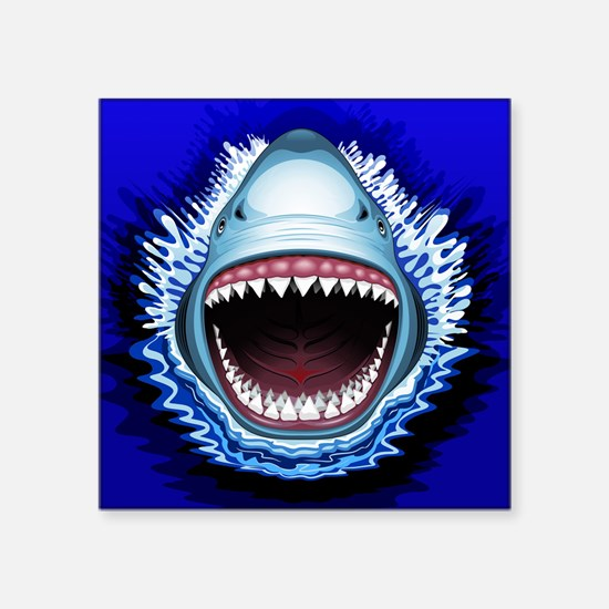 Shark Jaws Attack Sticker