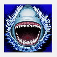 Shark Jaws Attack Tile Coaster