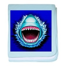Shark Jaws Attack baby blanket