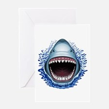 Shark Jaws Attack Greeting Cards