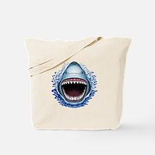 Shark Jaws Attack Tote Bag
