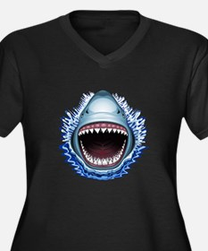 Shark Jaws Attack Plus Size T-Shirt