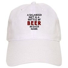 Balanced diet beer Baseball Cap