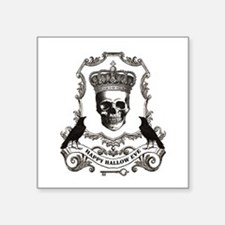 modern vintage Halloween skull Sticker