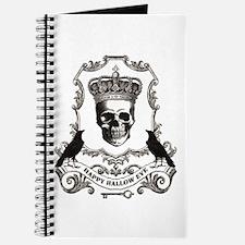 modern vintage Halloween skull Journal