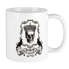 modern vintage Halloween skull Mugs