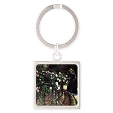 Caillebotte - Roses, Garden at Pet Square Keychain