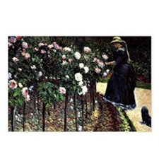 Caillebotte - Roses, Gard Postcards (Package of 8)