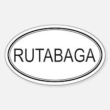 RUTABAGA (oval) Oval Decal