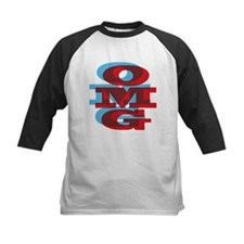 OMG - red and blue Baseball Jersey