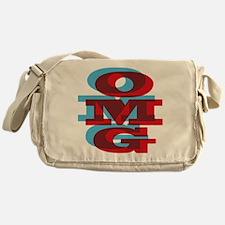 Cute Typographic Messenger Bag