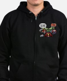 Avengers Assemble Personalized D Zip Hoodie