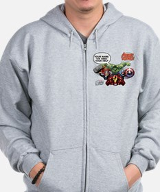 Avengers Assemble Personalized Design 1 Zip Hoodie