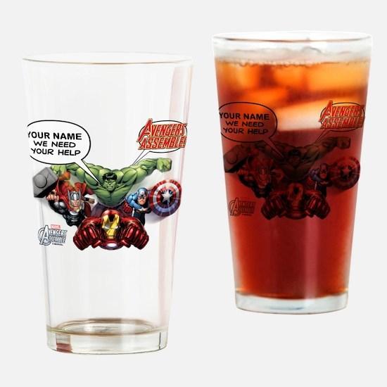 Avengers Assemble Personalized Desi Drinking Glass
