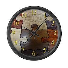 Real Looking Wood Large Wall Clock