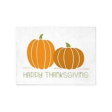 Happy Thanksgiving 5'x7'Area Rug