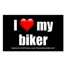 """I Love My Biker"" Decal"