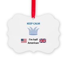 Part American Part English Baby Ornament
