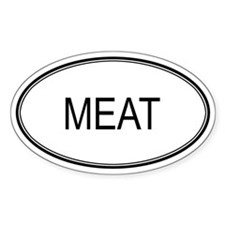 MEAT (oval) Oval Decal