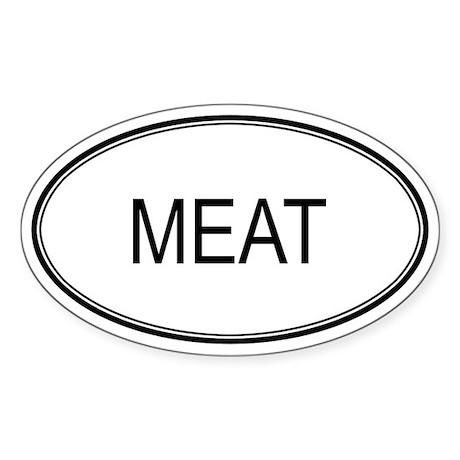 MEAT (oval) Oval Sticker