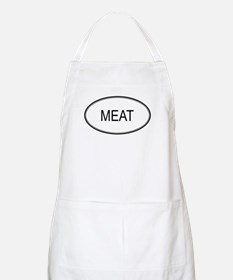 MEAT (oval) BBQ Apron