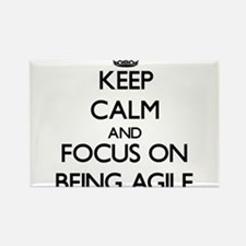 Keep Calm and focus on Being Agile Magnets