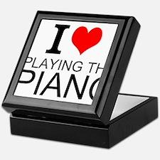 I Love Playing The Piano Keepsake Box