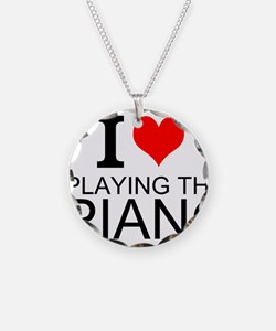 I Love Playing The Piano Necklace