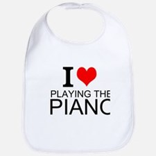 I Love Playing The Piano Bib
