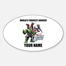 Avengers Assemble Personalized Desi Sticker (Oval)
