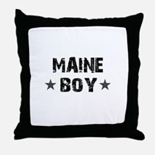 Maine Boy Throw Pillow