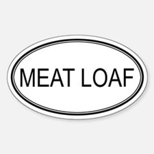 MEAT LOAF (oval) Oval Decal