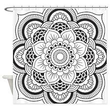 Cute Boho Shower Curtain