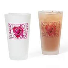 Cute Peace love curling Drinking Glass