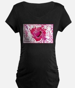 Love and Valentine Day Maternity T-Shirt